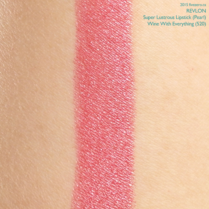 Revlon Super Lustrous Lipstick in Wine With Everything (Pearl), swatch