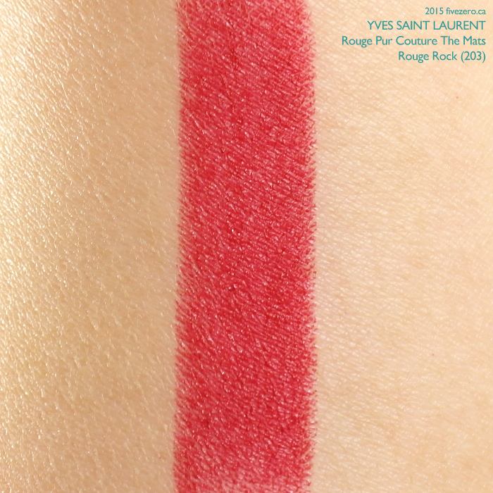 Yves Saint Laurent Rouge Pur Couture The Mats in Rouge Rock, swatch