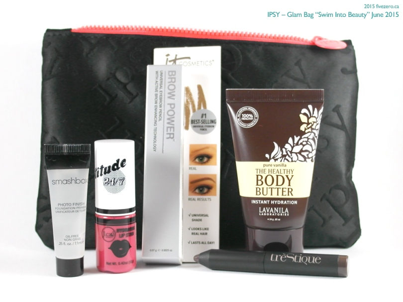 "Ipsy Glam Bag ""Swim Into Beauty"" June 2015"
