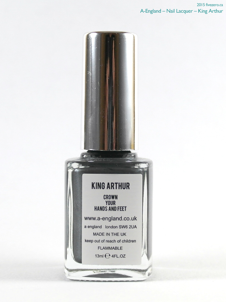 A-England Nail Lacquer in King Arthur, label