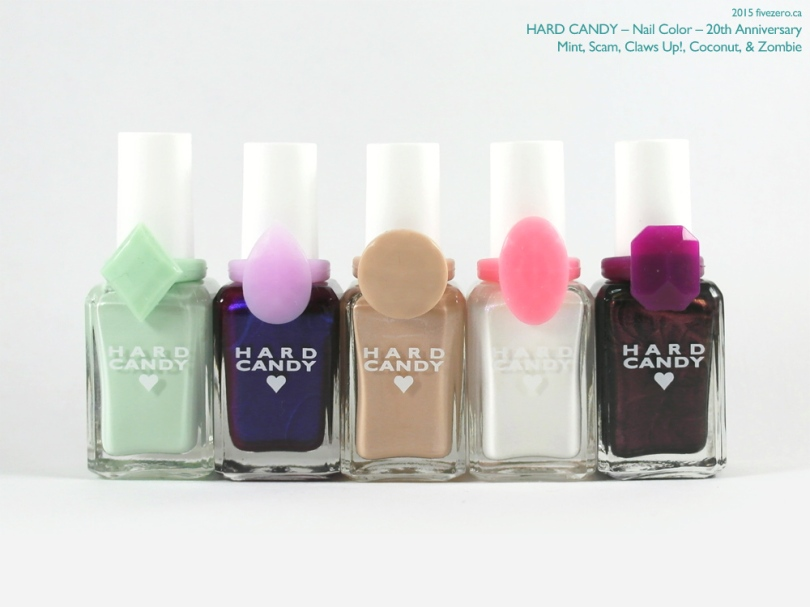 Hard Candy Nail Color, 20th Anniversary Collection (Mint, Zombie, Claws Up!, Coconut, Scam))