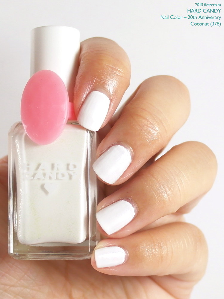 Hard Candy Nail Color (20th Anniversary) in Coconut, swatch