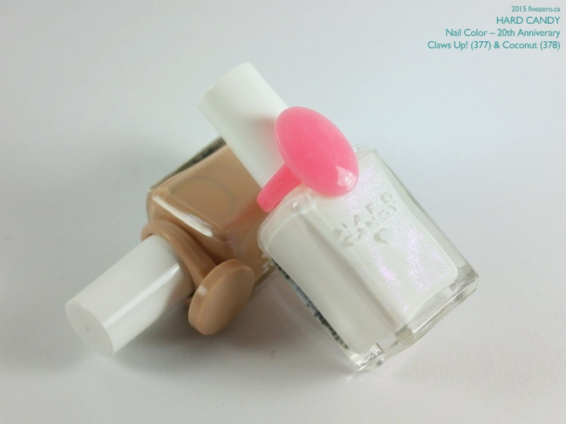 Hard Candy Nail Color (20th Anniversary) in Claws Up! & Coconut