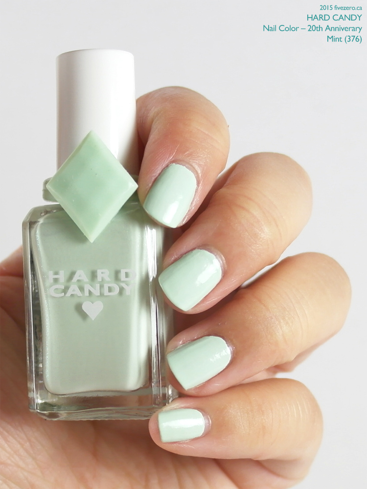 Hard Candy Nail Color (20th Anniversary) in Mint, swatch