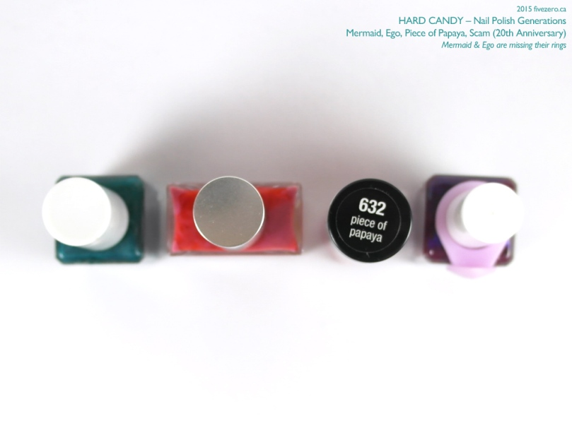 Hard Candy Nail Polish Generations Comparison