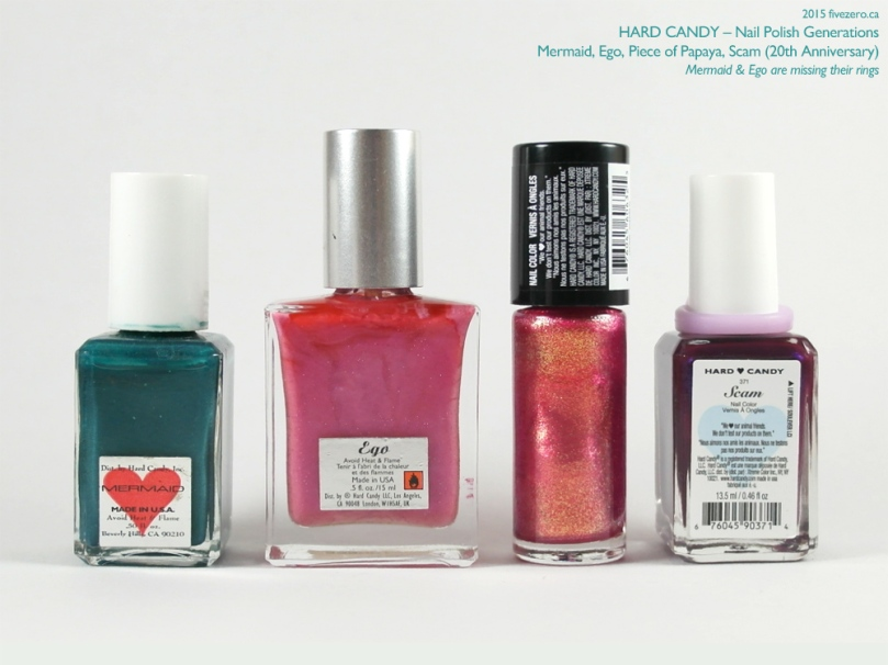 Hard Candy Nail Polish Generations Comparison, label