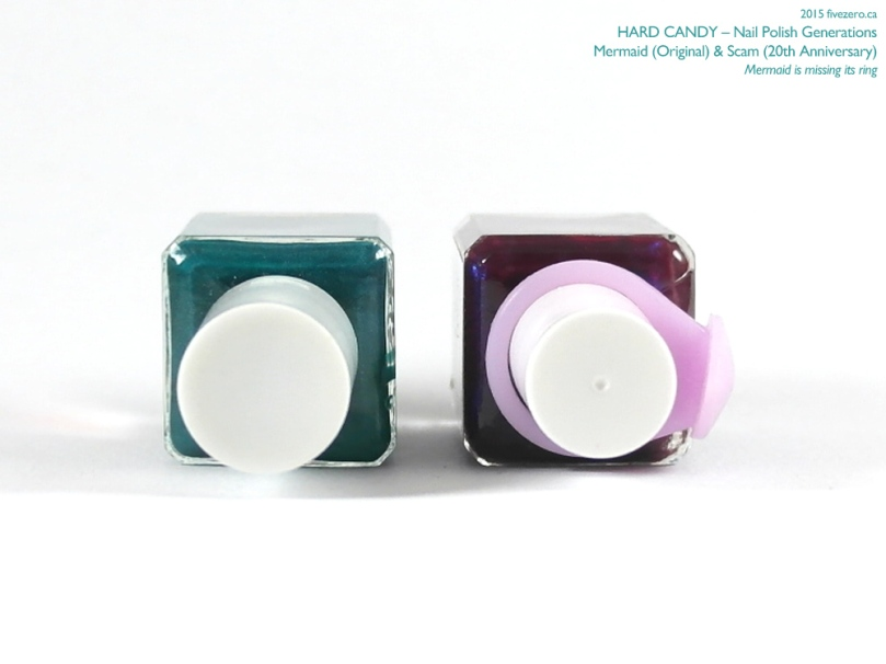 Hard Candy Nail Color, 20th Anniversary Collection comparison with original, Mermaid & Scam