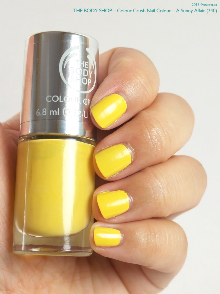 The Body Shop Colour Crush Nail Colour in A Sunny Affair, swatch