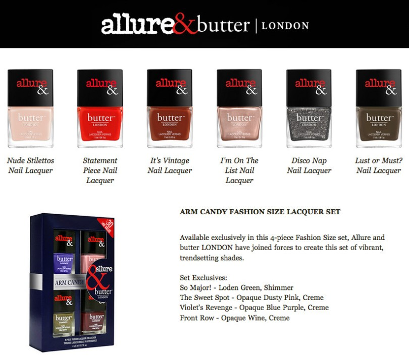 butter London x Allure Magazine Arm Candy CollectionJuly 2015