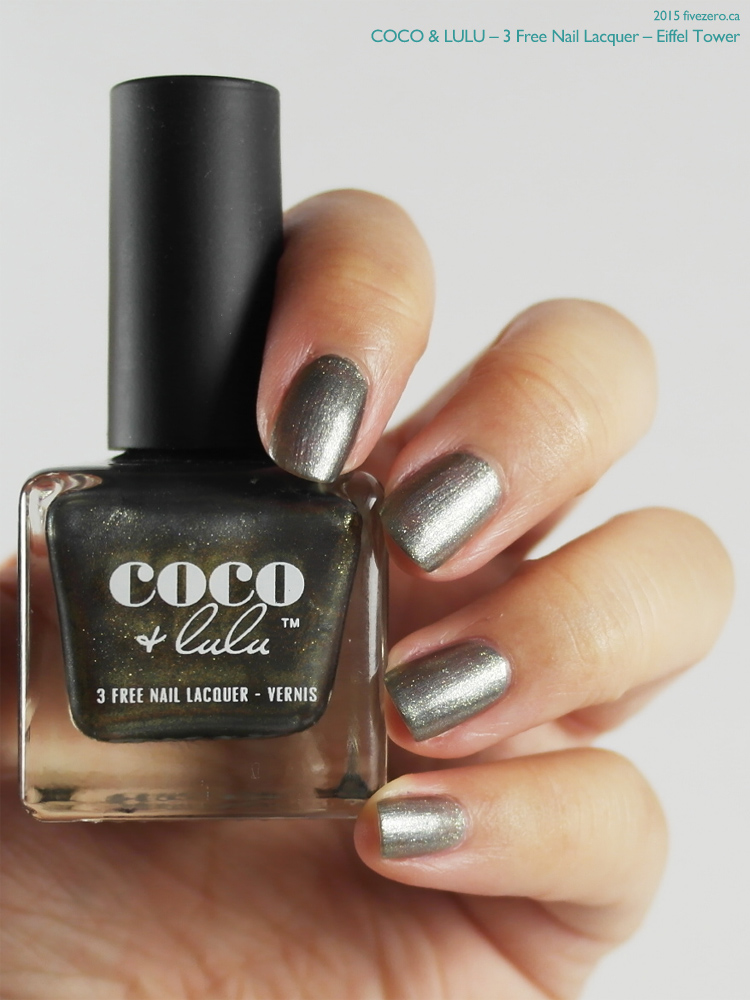 Coco & Lulu 3 Free Nail Lacquer in Eiffel Tower, swatch