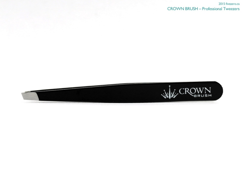 Crown Brush Professional Tweezers in Black