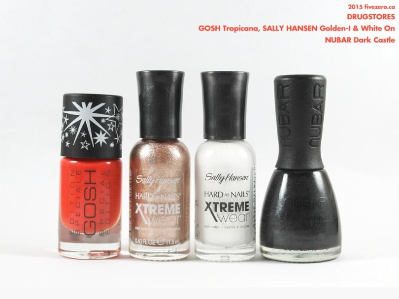 Drugstore Haulage, GOSH, Sally Hansen, Nubar nail polish