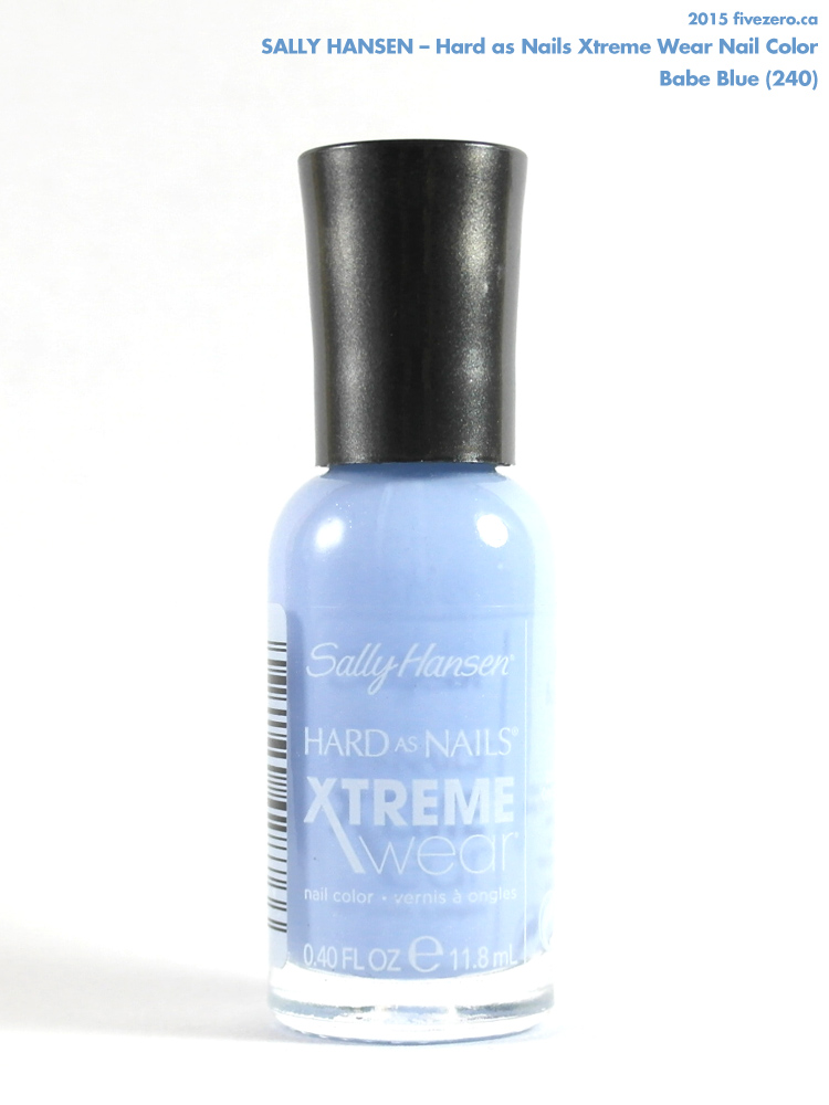 Sally Hansen Babe Blue Hard As Nails Xtreme Wear Nail Color Swatch Amp Review Fivezero