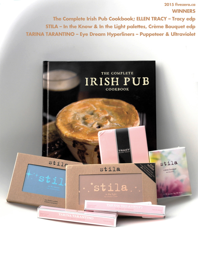 Winners Canada haulage, Complete Irish Cookbook, Ellen Tracy perfume, Stila eye shadow palettes, Stila perfume, Tarina Tarantino eyeliners