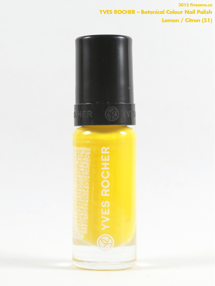 Yves Rocher Botanical Colour Nail Polish in Lemon / Citron