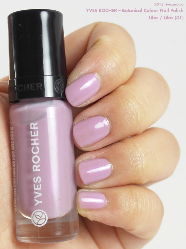Yves Rocher Botanical Colour Nail Polish in Lilac / Lilas, swatch