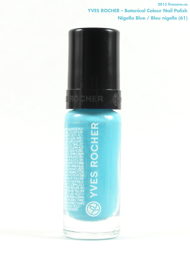 Yves Rocher Botanical Colour Nail Polish in Nigella Blue / Bleu nigelle