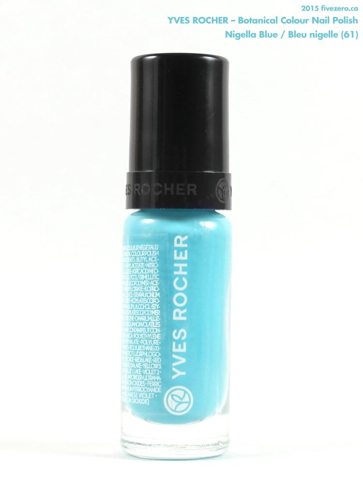 Yves Rocher Botanical Colour Nail Polish in Nigella Blue / Bleu nigelle