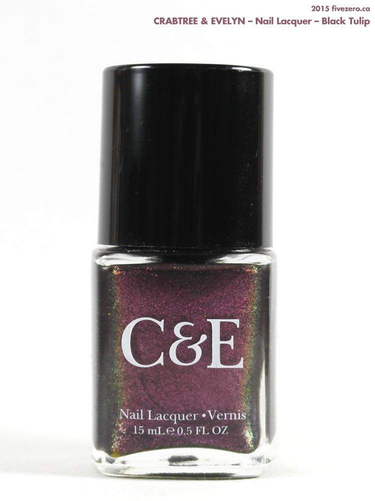 Crabtree & Evelyn Nail Lacquer in Black Tulip