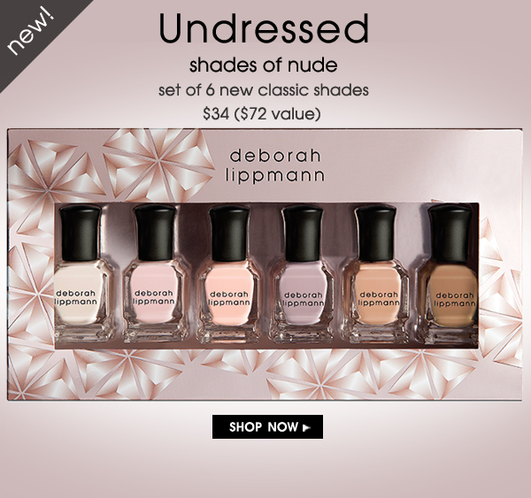 Deborah Lippmann, Undressed, Shades of Nude Nail Color, Fall 2015, Limited Edition Set