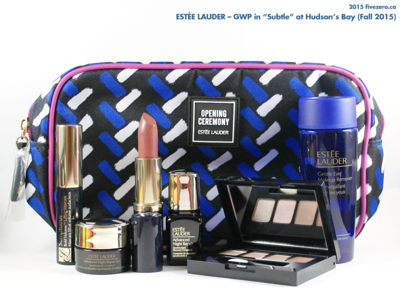 Estée Lauder GWP in Subtle at Hudson's Bay, Fall 2015