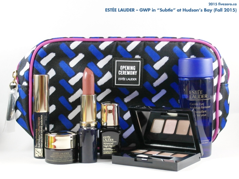 Estée Lauder GWP at Hudson's Bay, Fall 2015