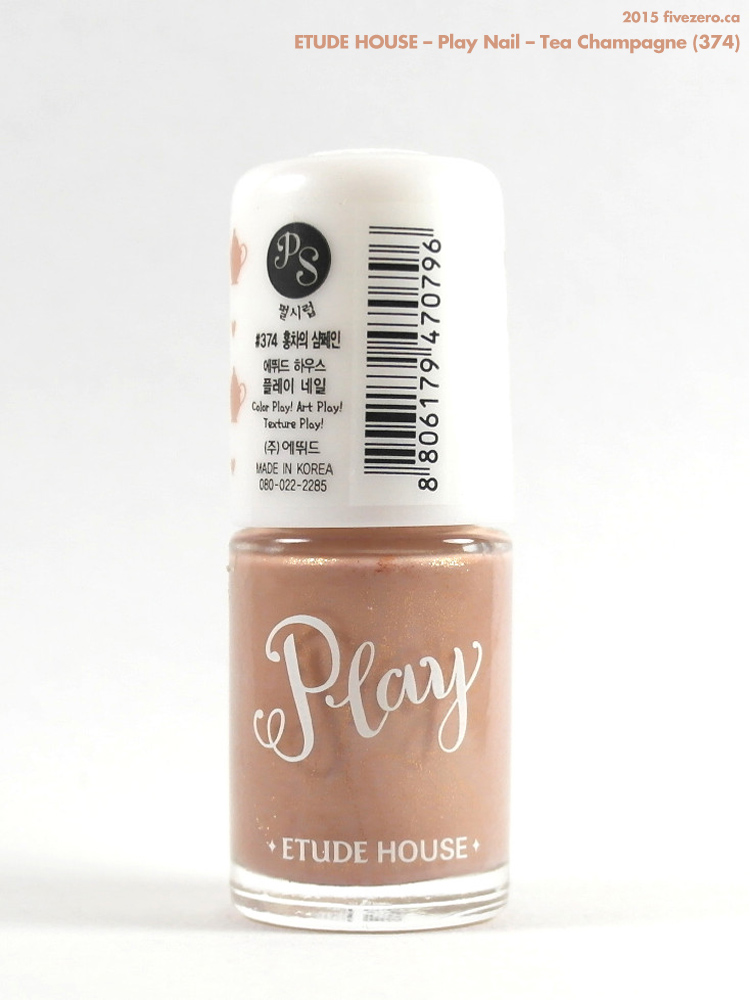 Etude House — Tea Champagne (Play Nail) Swatch & Review – fivezero