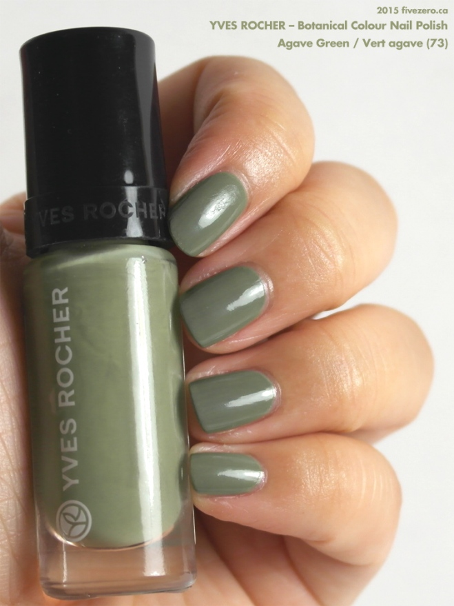 Yves Rocher Botanical Colour Nail Polish in Agave Green / Vert agave, swatch