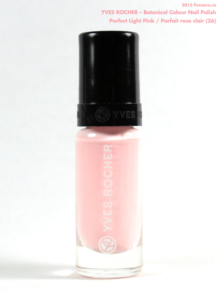 Yves Rocher Botanical Colour Nail Polish in Perfect Light Pink / Parfait rose clair