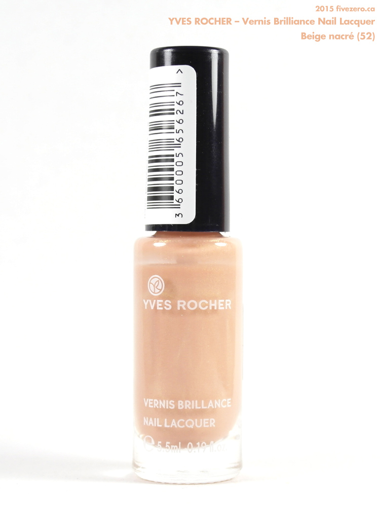 Yves Rocher Vernis Brilliance Nail Lacquer in Beige nacré