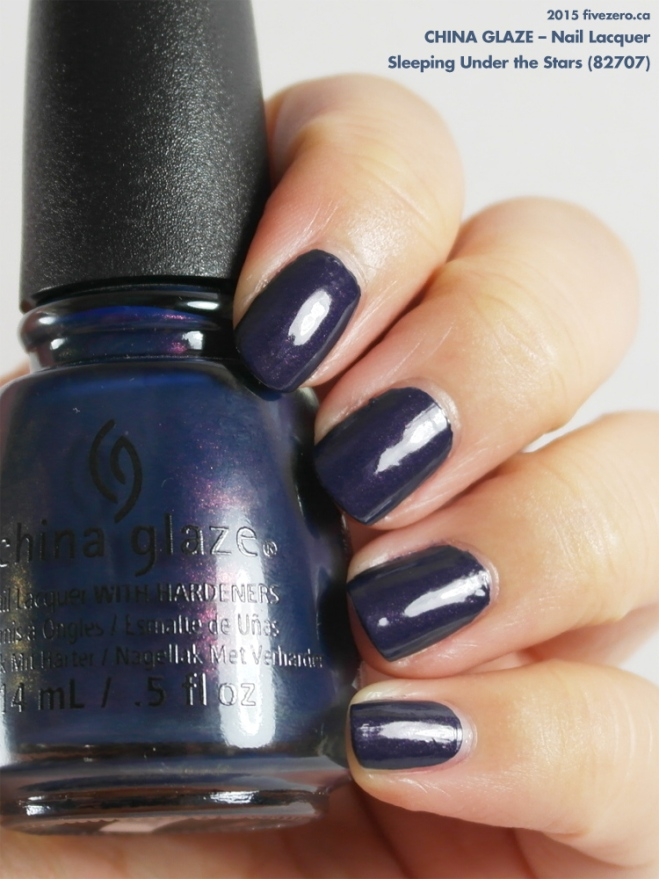 China Glaze Nail Lacquer in Sleeping Under the Stars, swatch