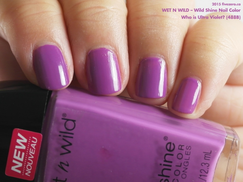 Wet n Wild — Who is Ultra Violet? (Wild Shine Nail Color) Swatch ...