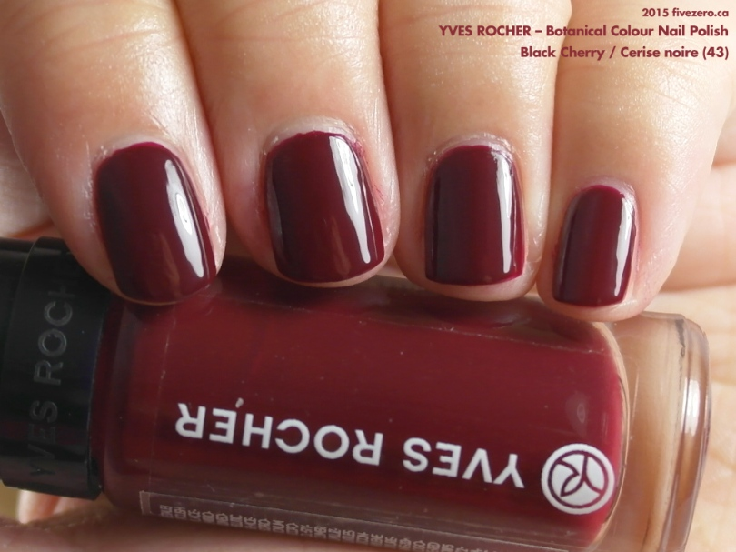 Yves Rocher Botanical Colour Nail Polish in Black Cherry / Cerise noire, swatch