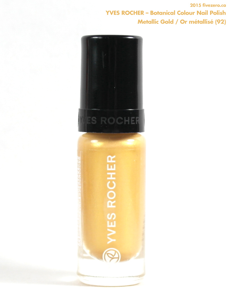 Yves Rocher Botanical Colour Nail Polish in Metallic Gold / Or métallisé