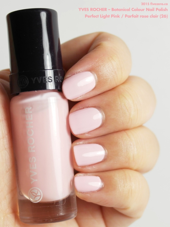 Yves Rocher Botanical Colour Nail Polish in Perfect Light Pink / Parfait rose clair, swatch