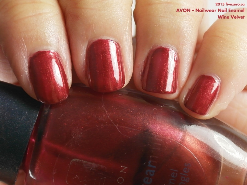 Throwback Thursday! Avon — Wine Velvet (Nailwear Nail Enamel) Swatch ...