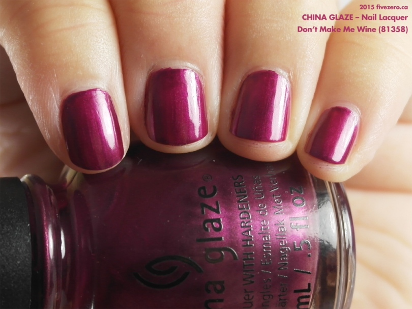 China Glaze Nail Lacquer in Don't Make Me Wine, swatch