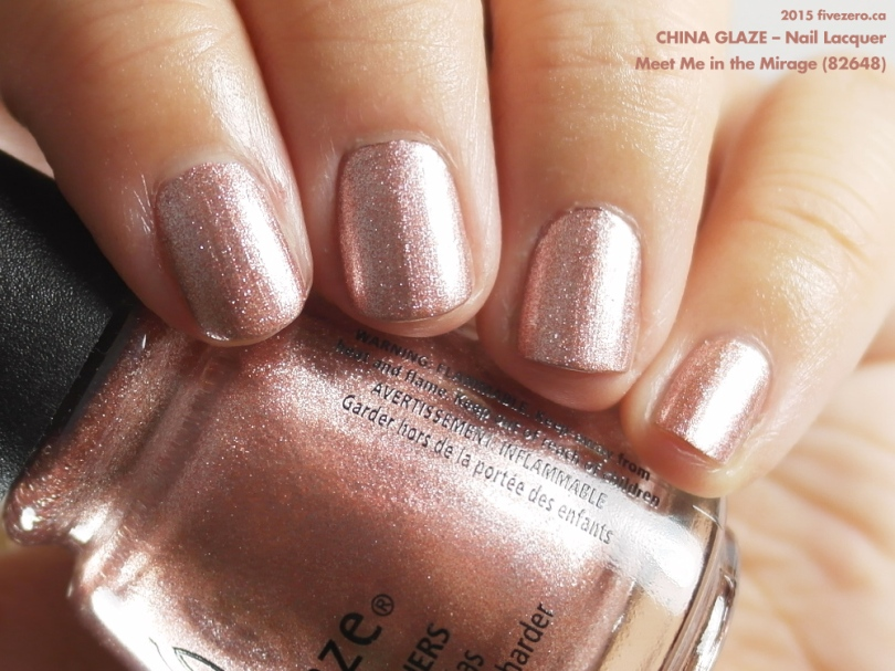China Glaze Nail Lacquer in Meet Me in the Mirage, swatch