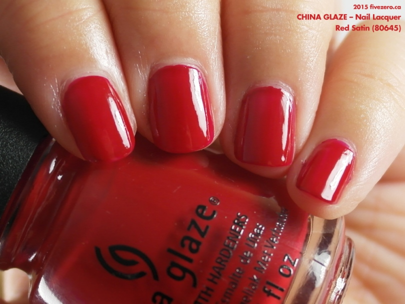 China Glaze Nail Lacquer In Red Satin Swatch