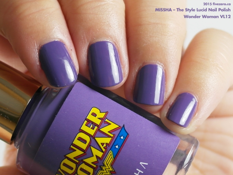 Missha The Style Lucid Nail Polish in Wonder Woman V12, swatch