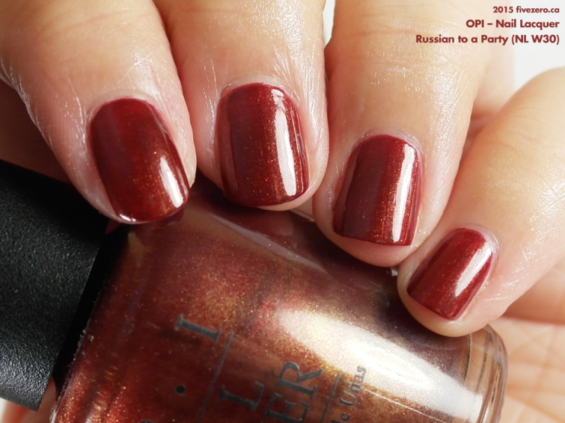 OPI Nail Lacquer in Russian to a Party, swatch