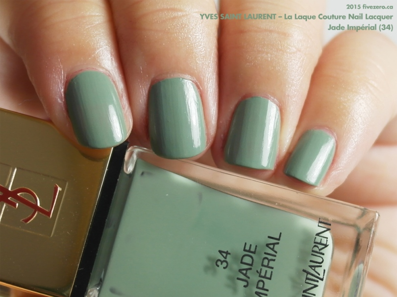 Yves Saint Laurent La Laque Couture in Jade Impérial, swatch