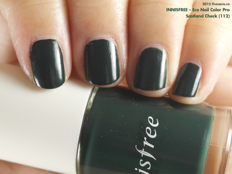 Innisfree — Scotland Check (Eco Nail Color Pro) Swatch & Review ...