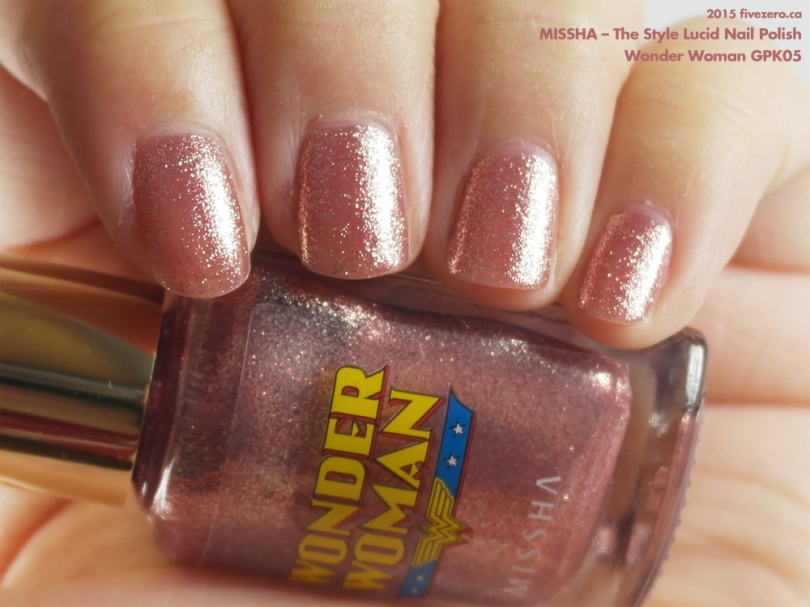 Missha The Style Lucid Nail Polish in Wonder Woman GPK05, swatch
