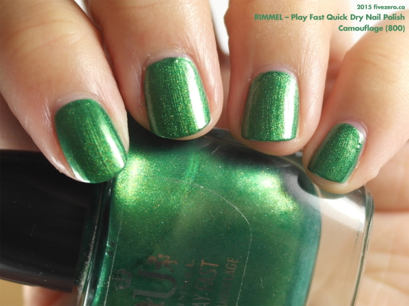 Rimmel Play Fast Quick Dry Nail Polish in Camouflage, swatch