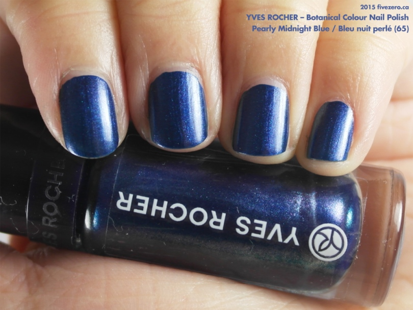 Yves Rocher Botanical Colour Nail Polish in Pearly Midnight Blue / Bleu nuit perlé, swatch