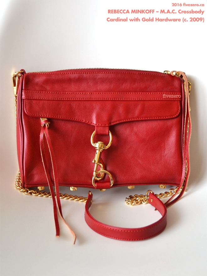 Rebecca Minkoff M.A.C. Crossbody Handbag, Cardinal with gold hardware, 2009