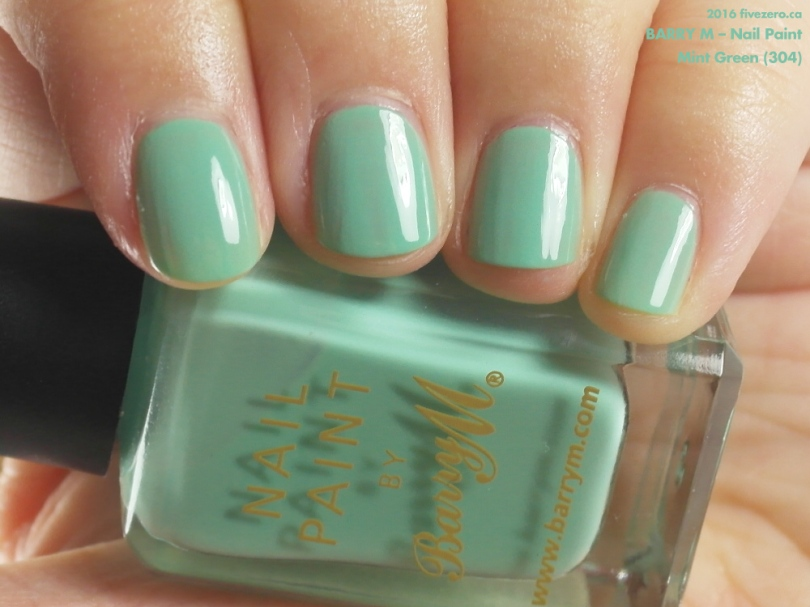 Barry M Nail Paint in Mint Green, swatch