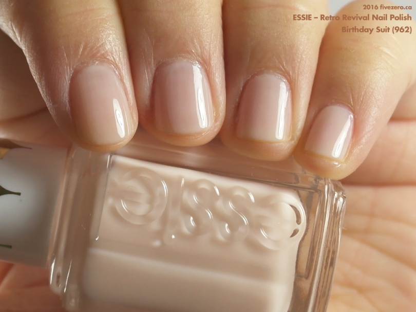 Essie — Birthday Suit (Retro Revival Nail Polish) Swatch & Review ...