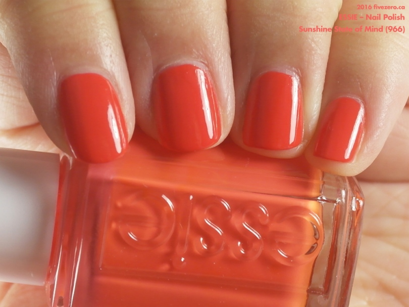 Essie — Sunshine State of Mind (Nail Polish) Swatch & Review – fivezero